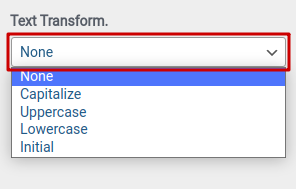 Configuring typography options